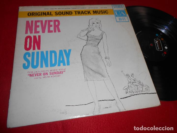 NEVER ON SUNDAY BSO OST MANOS HADJIDAKIS LP UA RECORDS EDICION AMERICANA USA (Música - Discos - LP Vinilo - Bandas Sonoras y Música de Actores )