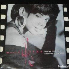 Discos de vinilo: VENDO SINGLE DE MARVA HICHS, AÑO 1991 (MAS INFORMACIÓN EN 2ª Y 3ª FOTO EN EL INTERIOR).. Lote 114893079