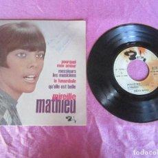 Discos de vinilo: MIREILLE MATHIEU / POURQUOI MON AMOUR FIRMADO ...EP VINILO . Lote 114898011