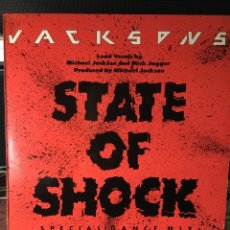 Discos de vinilo: JACKSONS-STATE OF SHOCK-1984-NUEVO. Lote 114898912