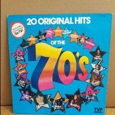 Discos de vinilo: 20 ORIGINAL HITS OF THE 70'S / LP - TPV - 1977 / MBC. ***/***. Lote 114902451