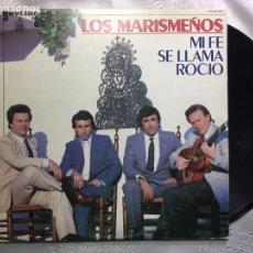 Disques de vinyle: LP: LOS MARISMEÑO, MI FE SE LLAMA ROCÍO.. Lote 114906775