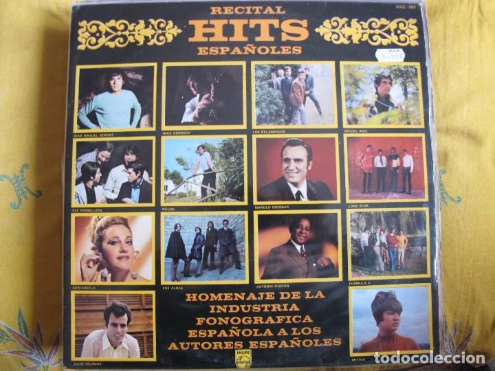 LP - RECITAL HITS ESPAÑOLES - VARIOS (SPAIN, PHILIPS 1969, VER FOTO ADJUNTA) (Música - Discos - LP Vinilo - Solistas Españoles de los 70 a la actualidad)