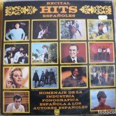 Discos de vinilo: LP - RECITAL HITS ESPAÑOLES - VARIOS (SPAIN, PHILIPS 1969, VER FOTO ADJUNTA). Lote 114910471