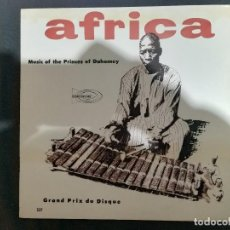 Discos de vinilo: ARTISTA DESCONOCIDO-MUSIC OF THE PRINCES OF DAHOMEY. Lote 114912771
