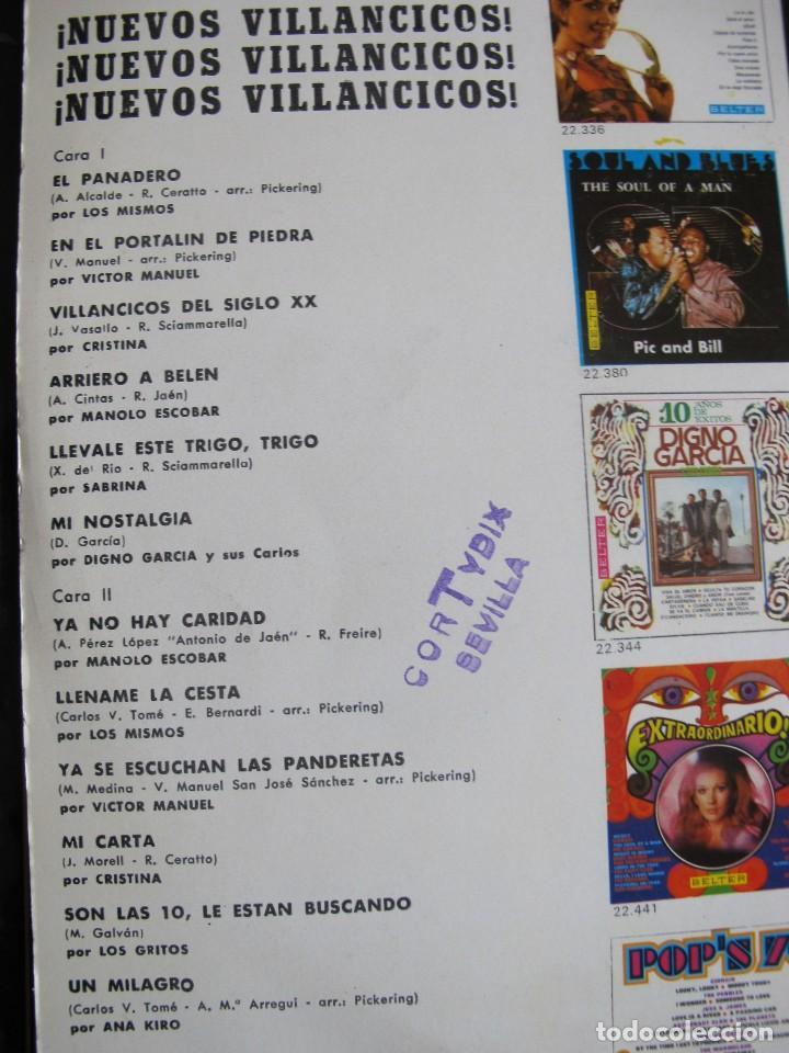 Discos de vinilo: LP - NUEVOS VILLANCICOS - VARIOS (SPAIN, BELTER 1970) VER FOTO ADJUNTA - Foto 2 - 114914659