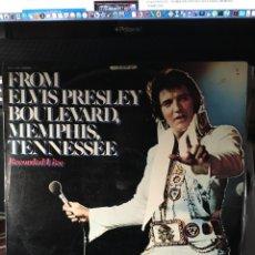 Discos de vinilo: ELVIS PRESLEY-FROM ELVIS PRESLEY BOULEVARD,MEMPHIS,TENNESSEE LIVE-1976-VINILO EXCELENTE ESTADO. Lote 114916691