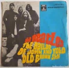 Discos de vinilo: THE BEATLES - THE BALLAD OF JOHN AND YOKO/OLD BROWN SHOE - SPAIN 1969 - 45 RPM. Lote 114919535