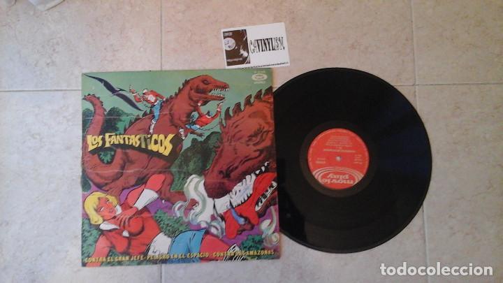 LAS AVENTURAS DE LOS FANTÁSTICOS LP RARO (Música - Discos - LP Vinilo - Bandas Sonoras y Música de Actores )