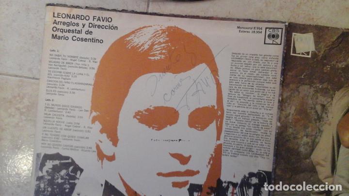 Discos de vinilo: Leonardo Favio Vinilo Lp Firmado por Leonardo Favio - Foto 2 - 114940095