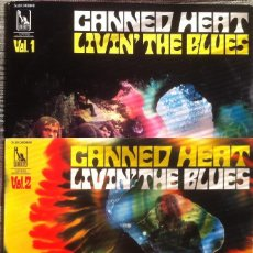 Discos de vinilo: CANNED HEAT - LIVIN' THE BLUES VOL.1 Y VOL.2. - 1969 - LIBERTY/PATHE MARCONI. ED. FRANCESA ORIGINAL.. Lote 114949487