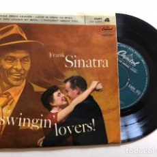 Discos de vinilo: FRANK SINATRA ‎- SONGS FOR SWINGIN' LOVERS / EP CAPITOL EAP4 653 - 1958 - ED UK - EXCELENTE ESTADO. Lote 114971583