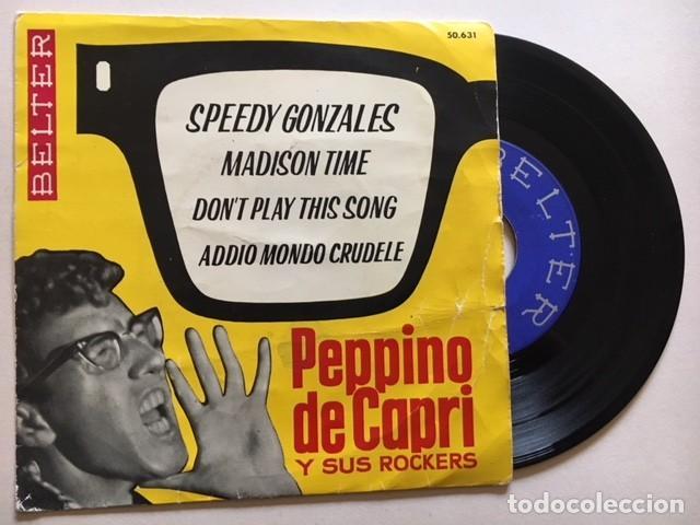 PEPPINO DE CAPRI Y SUS ROCKERS - SPEEDY GONZALES + 3 / EP BELTER 50.631 - 1962 - ED ESPAÑOLA (Música - Discos de Vinilo - Maxi Singles - Rock & Roll)