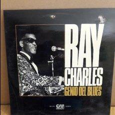 Discos de vinilo: RAY CHARLES / GENIO DEL BLUES / LP - GRAMUSIC - 1974 / MBC. ***/***. Lote 114978999