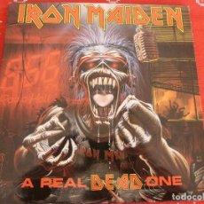 Discos de vinilo: (XM)DISCO-A REAL DEAD ONE (IRON MAIDEN)-CON TODOS LOS ACCESORIOS. Lote 114983399
