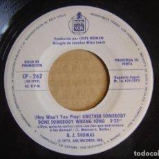 Discos de vinilo: FREDDY FENDER - BEFORE THE NEXT TEARDROP FALLS + ANOTHER SOMEBODY..- SINGLE PROMO 1975 - HISPAVOX. Lote 114988971