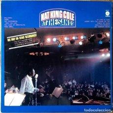 Discos de vinilo: NAT KING COLE : AT THE SANDS [USA 1980]. Lote 114994075
