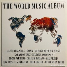 Discos de vinilo: THE WORLD MUSIC ALBUM GASA  4GA-0398 LP SPAIN 1990 EXCELENTE . Lote 114998971