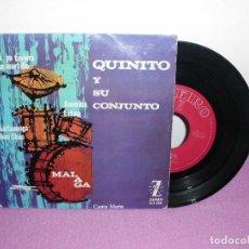 Discos de vinilo: QUINITO Y SU CONJUNTO - SI YO TUVIERA UN MARTILLO + 3 / ZARIFO - AÑO 1964. Lote 115012619