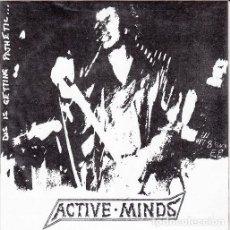 Discos de vinilo: ACTIVE MINDS - SLAVES TO FICTION - SINGLE PUNK DE VINILO CON 8 TEMAS. Lote 115015799