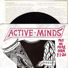 Discos de vinilo: ACTIVE MINDS - DON'T GET HOOKED - SINGLE PUNK DE VINILO CON 9 TEMAS. Lote 115017883