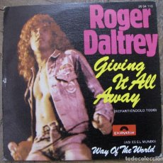 Discos de vinilo: ROGER DALTREY. GIVING IT ALL AWAY. POLYDOR ESPAÑA, 1973. VG++, VG++.. Lote 115021347