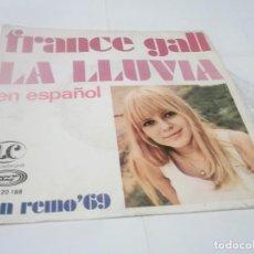 Discos de vinilo: FRANCE GALL- LA LLUVIA / HOMBRE CHIQUITIN- 45 MOVIEPLAY 1969 CANTA EN ESPAÑOL. Lote 115042823