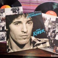 Discos de vinilo: BRUCE SPRINGSTEEN - THE RIVER 1980 SPAIN 2LP CON ENCARTES Y HOJA CON LAS LETRAS. Lote 115057499