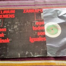 Discos de vinilo: LP DELIRIUM TREMENS + ZARRAPO 1987 OIHUKA ENCARTE Y LETRAS. Lote 115058523