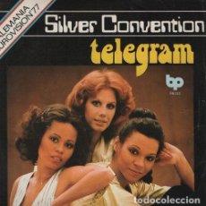 Discos de vinilo: SILVER CONVENTION - TELEGRAM - EUROVISION 77 ALEMANIA - SINGLE DE VINILO. Lote 115064355