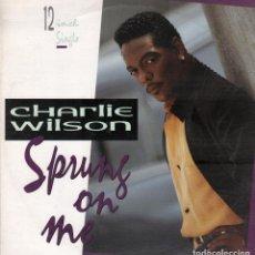Discos de vinilo: CHARLIE WILSON - SPRUNG ON ME / LP MAXISINGLE MCA DE 1992 RF-5033. Lote 115071719