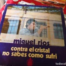 Discos de vinilo: MIGUEL RIOS.CONTRA EL CRISTAL. SINGLE. Lote 115090971