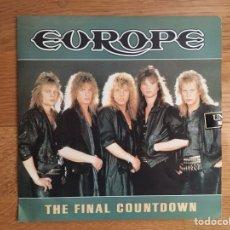 Discos de vinilo: EUROPE: THE FINAL COUNTDOWN / ON BROKEN WINGS. Lote 115106930