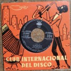 Discos de vinilo: CLUB INTERNACIONAL DEL DISCO. 6 CORTES: CON CHARLIE PARKER, SIDNEY BECHET, ART TATUM, ERROLL GARNER. Lote 115108935