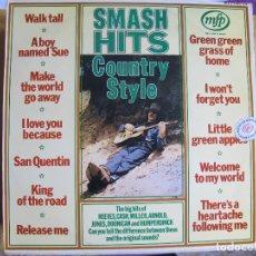 Discos de vinilo: LP - SMASH HITS, COUNTRY STYLE - VARIOS (SWEDEN, MFP 1970). Lote 115118551