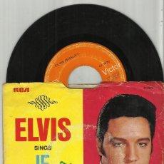 Discos de vinilo: ELVIS PRESLEY SINGLE IF I CAN DREAM / EDGE OF REALITY U.S.A.. Lote 115121247