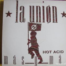 Discos de vinilo: MAXI - LA UNION - MAS Y MAS / BLUES (SPAIN, WEA RECORDS 1988). Lote 115122887