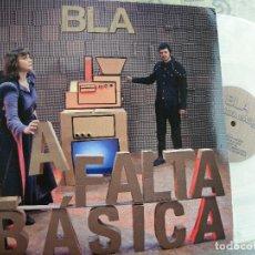 Discos de vinilo: BLA LA FALTA BASICA -LP COLOR TRANSPARENTE N.245 -BUEN ESTADO. Lote 115123683