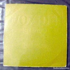 Discos de vinilo: VOX DEI:PROGRESIVO ARGENTINA-SOULÉ- EN VIVO:LA NAVE INFERNAL-COLECCIONISTAS-ORIGINAL. Lote 115127659