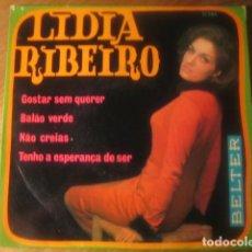 Discos de vinilo: LIDIA RIBEIRO - GOSTAR SEM QUERER + 3 ********** RARO EP BELTER 1970. Lote 115145735