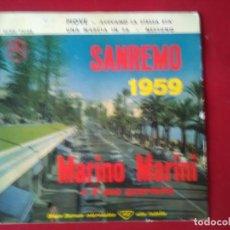 Discos de vinilo: VINILO DE MARIANO MARINO DE SAN REMO 1959. Lote 115161203