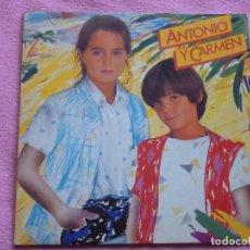 Discos de vinilo: ANTONIO Y CARMEN,SOPA DE AMOR Y OTRAS DEL 82 DOBLE CARATULA. Lote 115170931