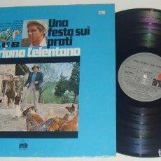 Discos de vinilo: LP- ADRIANO CELENTANO - UNA FESTA SUI PRATI - 1ª EDICION MADE IN GERMANY - CELENTANO. Lote 115170995