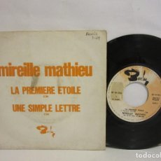 Discos de vinilo: MIREILLE MATHIEU - LA PREMIERE ETOILE - 1969 - PROMO - RARO - FRANCE - VG+/VG. Lote 115172187
