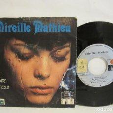 Discos de vinilo: MIREILLE MATHIEU - UNE HISTOIRE D'AMOUR - 1971 - MONO - SPAIN - VG/VG. Lote 115172903
