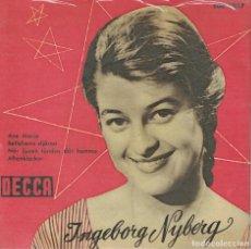 Discos de vinilo: INGEBORG NYBERG-AVE MARIA, BETLEHEMS STJARNA, NAR LJUSEN TANDAS DAR HEMMA, AFTONKLOCKOR. Lote 115175499
