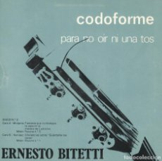 Discos de vinilo: ERNESTO BITETTI - MUDARRA/MILAN/NARVAEZ (MARCA COMERCIAL CODOFORME, FLEXI DISC 1977. Lote 115175671