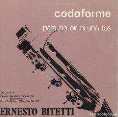 Discos de vinilo: ERNESTO BITETTI - NARVAEZ / MILANO (MARCA COMERCIAL CODOFORME, FLEXI DISC 1977. Lote 115175919