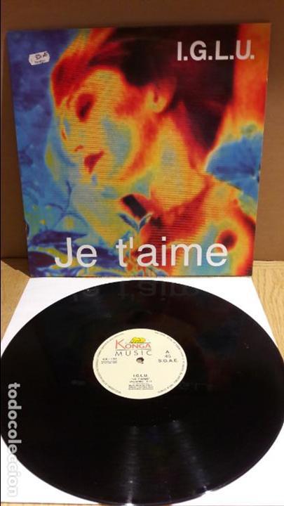 I.G.L.U. JE T'AIME. / MAXI-SG / KONGA MUSIC - 1991 / MBC. ***/*** (Música - Discos de Vinilo - Maxi Singles - Disco y Dance)
