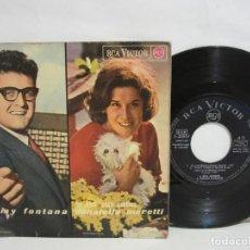 Discos de vinilo: RITA PAVONE / GIANNI MORANDI / JIMMY FONTANA / DONATELLA MORETTI - EP - CANTAN EN CATALAN - VG/VG. Lote 115183015